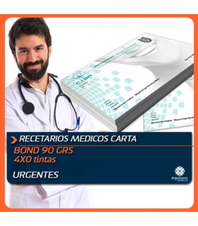 RECETARIO / BLOCK DE NOTAS CARTA medida normal (21.5 x 28 cms) bond 90 GRS